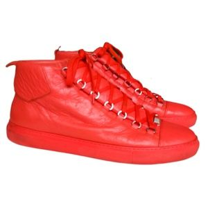 Balenciaga Red Arena Sneakers | 46 | Authenticated